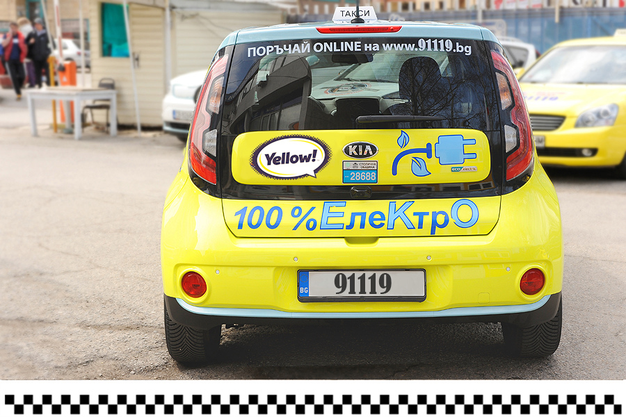 KIA Soul - electro taxi from Yellow Taxi
