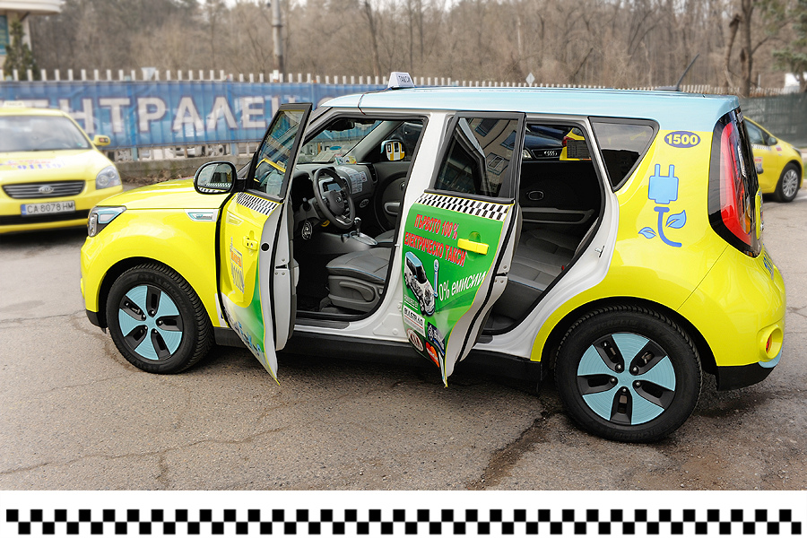 First electric taxi